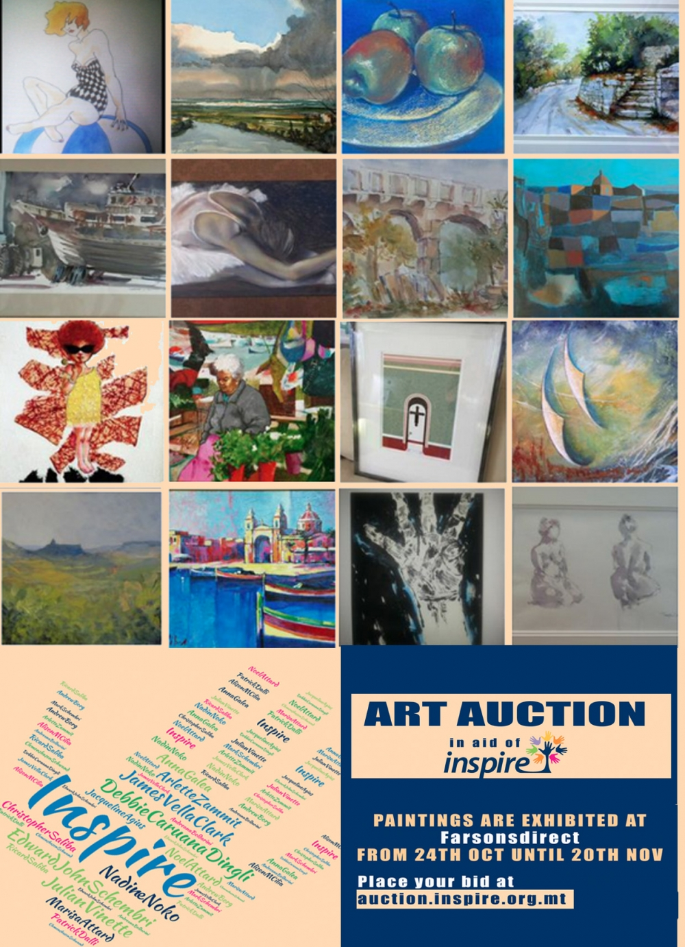 Artists to auction off works to raise funds for Inspire Foundation