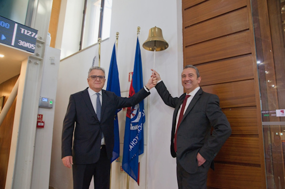 Main Street Complex commemorate first day of  trading at the Malta Stock Exchange