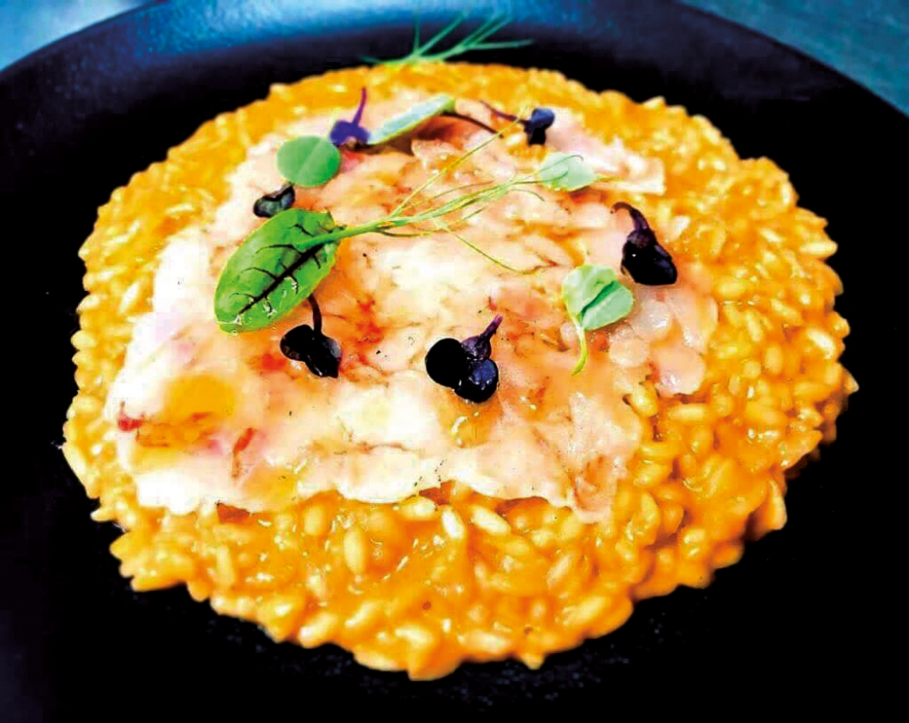 Acquarello risotto with local prawns