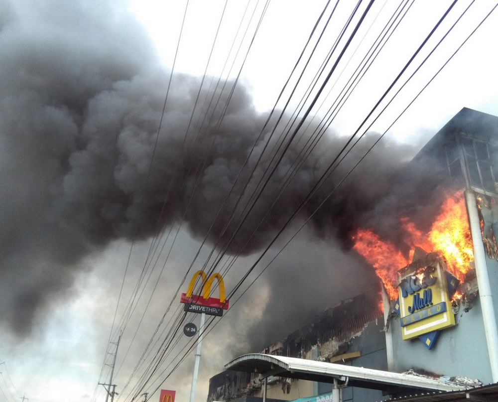 Shopping mall fire leaves 37 dead in the Philippines