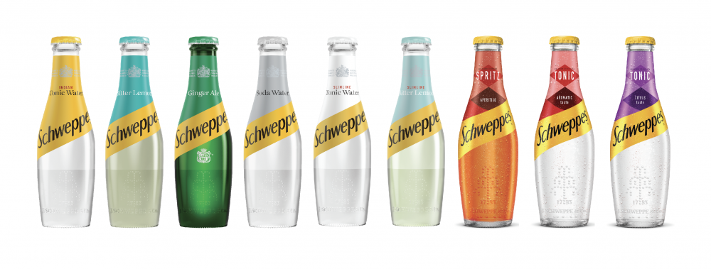 Schweppes unveils a fresh look and new iconic skittle bottle