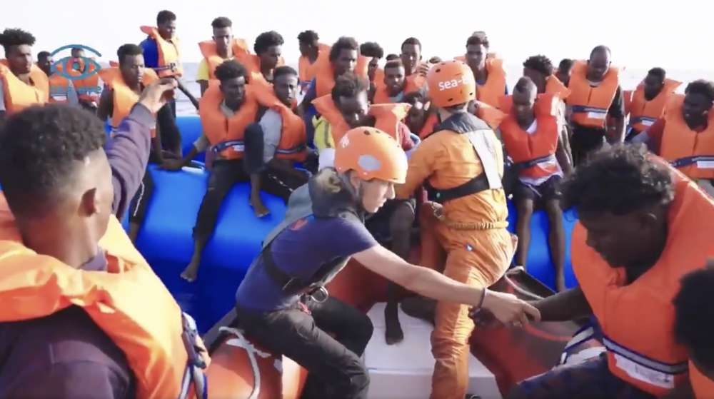 Migrant rescue vessel Alan Kurdi rescues 65 migrants off the Libyan coast