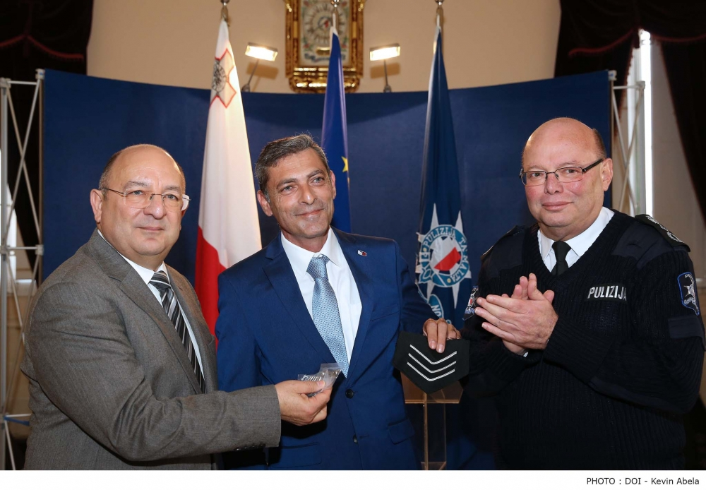 Simon Schembri promoted for being an 'inspiration' to fellow police officers