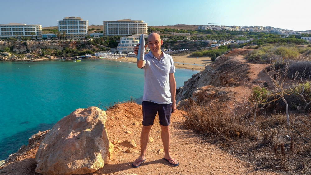 Stainless-steel water bottles can help reduce Malta's plastic waste problem