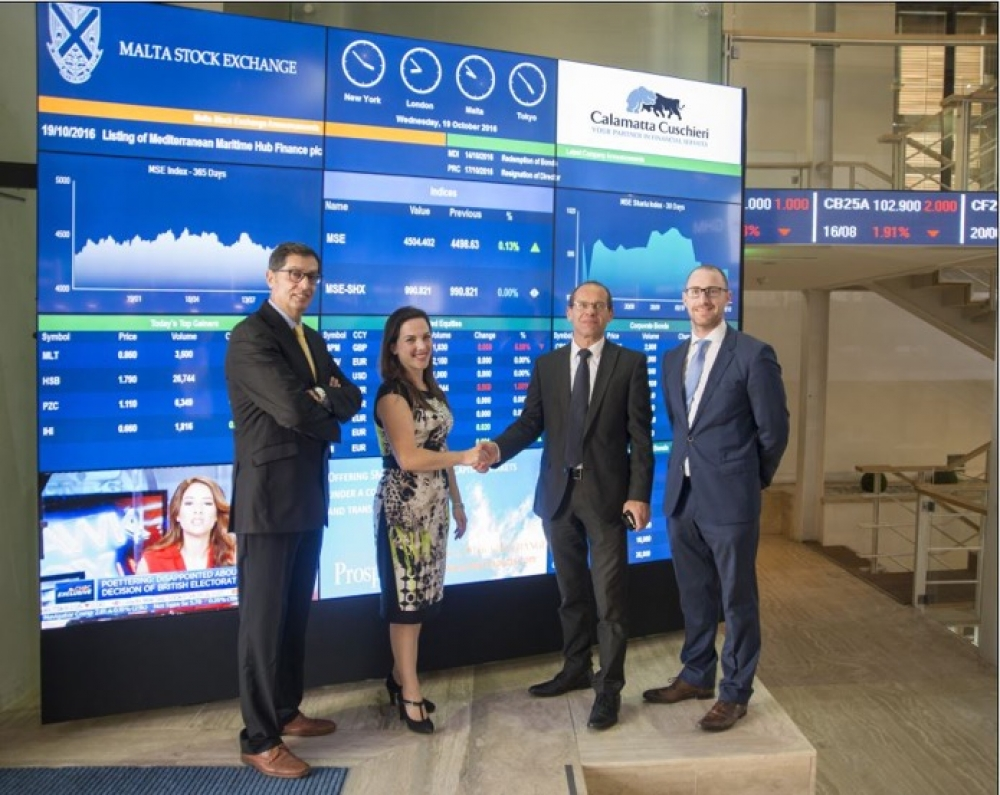 Mediterranean Maritime Hub starts trading on Malta Stock Exchange