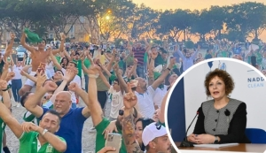 Charmaine Gauci: Floriana championship celebrations 'worrying' for health authorities