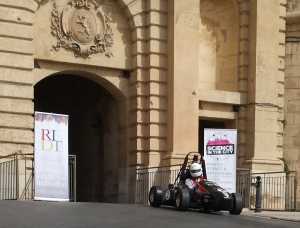 Students rev up their race car in Valletta ahead of Science in the City