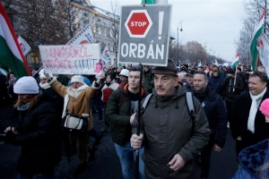 Thousands in Hungary protest against Prime Minister Viktor Orban's controversial new labour law
