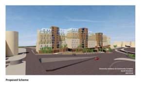 Proposed university village to rise up to nine floors