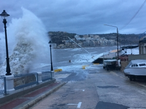 Nature's fury wreaks havoc across the island • Waves flood Radisson Hotel in St Julian's