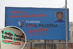 Labour hits back at PN over billboard gaffe with a billboard of its own