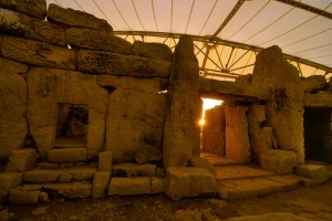 Watch the sun rise on the first day of winter at Mnajdra Temples