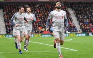 Mohamed Salah register a hat-trick to send Liverpool top