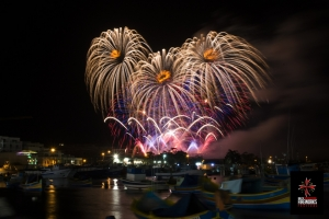 Spectacular fireworks in Marsaxlokk woo the crowds