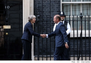 Joseph Muscat discusses Brexit with Theresa May