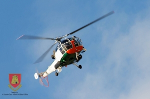 AFM helicopter rescuses man in distress in Zurrieq