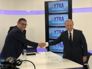 [WATCH] Joseph Muscat and Adrian Delia spar in calm debate