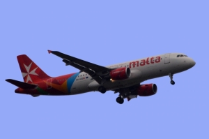 Air Malta plane struck by lightning in transit