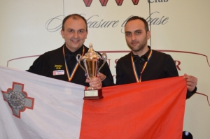 Alex Borg and Duncan Bezzina crowned 2014 European Men's Team Champions