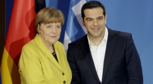 Merkel visits Greece in show of 'EU solidarity' amid protests