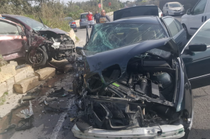Updated | Elderly couple grievously injured in violent head-on collision outside Birzebbuga