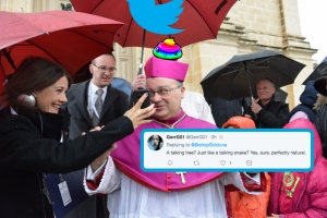 Twitter's reaction to Archbishop's 'carobs' tweet on same-sex marriage is... fabulous darling