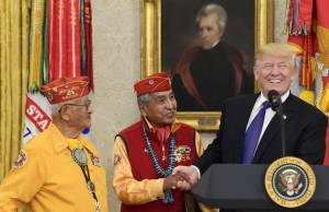 [WATCH] Trump makes 'Pocahontas' joke as ceremony honouring Native American veterans