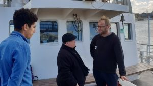 Archbishop visits impounded NGO rescue vessel, reiterates call for solidarity with stranded migrants