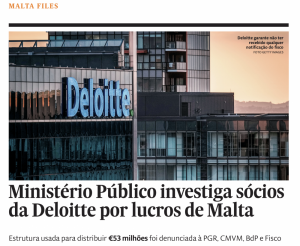 Portugal chief prosecutor probes Deloitte's million-euro tax structure in Malta