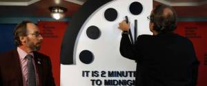 Symbolic Doomsday Clock moved forward to two minutes to midnight