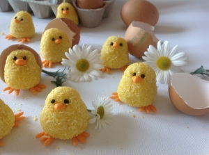Mini Easter truffle chicks (GF)