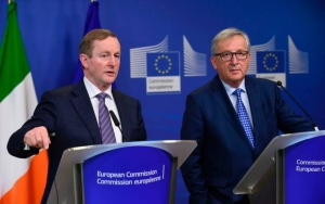 Irish leader calls for united Ireland clause in Brexit deal