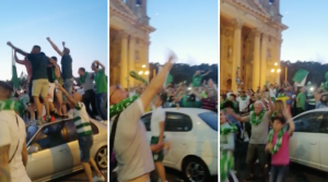 [WATCH] Social distancing rules no match for Floriana's championship celebrations