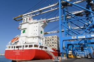 Malta Freeport hosts first LNG-powered container ship