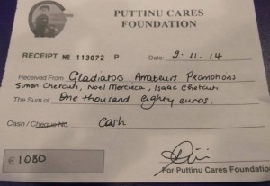 Kickboxers in aid of Puttinu Cares