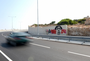 Coast Road wall becomes canvas for graffiti artists