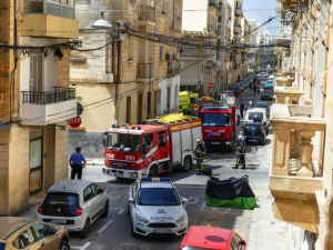 Woman rescued from burning building in Gzira
