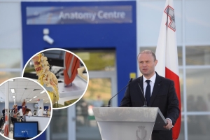 New Gozo Hospital 'on its way', Muscat insists as he launches Barts Anatomy Centre