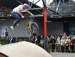 BMX enthusiasts thrilled by indoor skate park