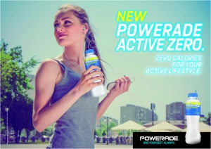 Powerade Active Zero: zero calories for those who live an active lifestyle