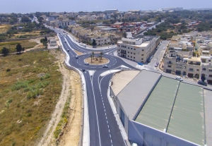 [WATCH] Luqa road roundabout works complete