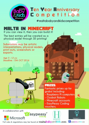 Kids told to recreate Malta in Minecraft in contest for top prizes