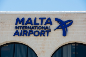 Small aircraft damaged while landing at Luqa airport