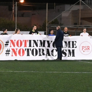 Footballers take a knee against racism in show of solidarity with Maya Lucia