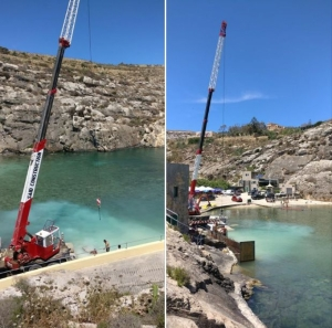 Works at Mġarr ix-Xini stopped after reports of silt seepage into sea