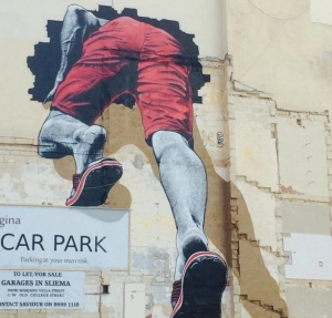 Mural in Sliema car park leaves passers-by stunned