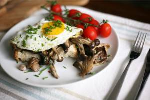 Roasted herby mushrooms