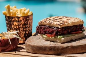 Beetroot and Mushroom Burger