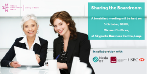 Business breakfast to discuss women directors in Malta