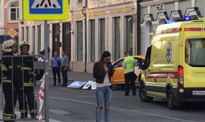 Eight injured as taxi runs into crowd in central Moscow